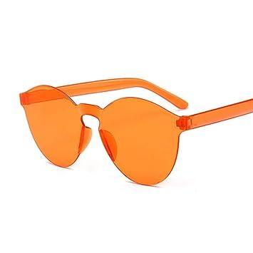 Kjwsbb Sin Montura Vintage Espejo Redondo Gafas de Sol Mujer ...