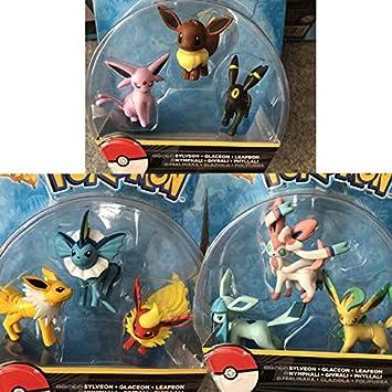 Takara Tomy Pokemon Anime Eevee Glaceon Vaporeon Jolteon Flareon Leafeon Figura Cartoon Pokemon Action Figure Toys Gift para niños, con Caja: Amazon.es: Juguetes y juegos