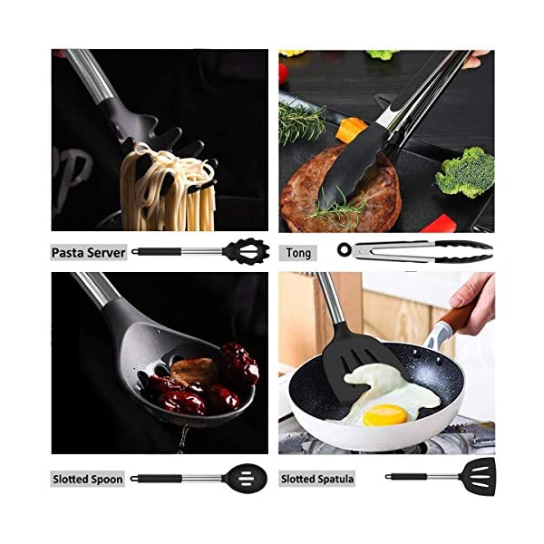 Silicone Cooking Utensil Set, Umite Chef 15pcs Silicone Cooking Kitchen Utensils Set, Non-stick Heat Resistant - Best… 4