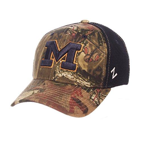 Zephyr NCAA Michigan Wolverines Adult Men Terrain Cap, Medium/Large, Mossy Oak Camo (Michigan Camo Hat)