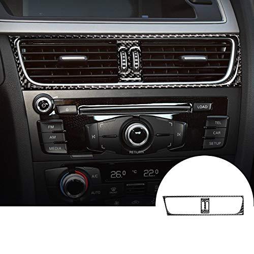wroadavee Carbon Fiber Center Console Air Vent Outlet Cover 2pcs for Audi A5 S5 2008-2016