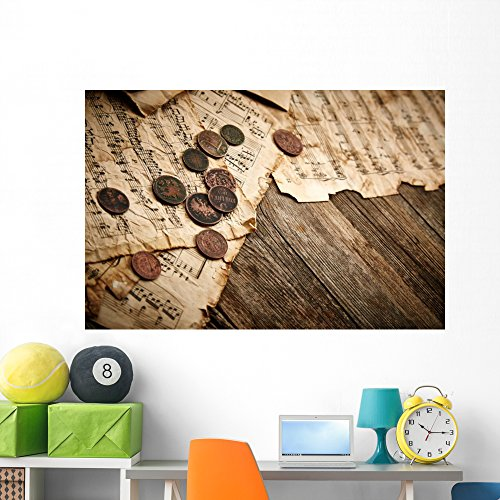 Wallmonkeys Vintage Still Life with Wall Mural Peel and Stick Graphic (60 in W x 40 in H) WM364861