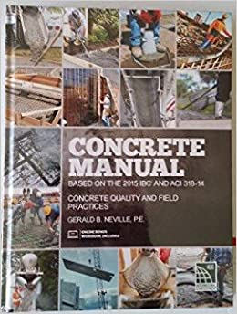 Concrete manual based on the 2015 ibc and aci 318 14 pe gerald concrete manual based on the 2015 ibc and aci 318 14 pe gerald b neville 9781609836184 amazon books fandeluxe Image collections
