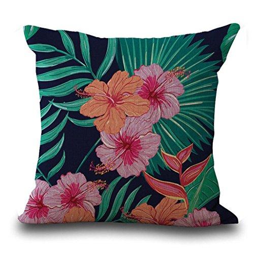 Napoo Clearance 4PC Pillow Cases Linen Sofa Print Cushion Cover Hidden Zipper Home Decor