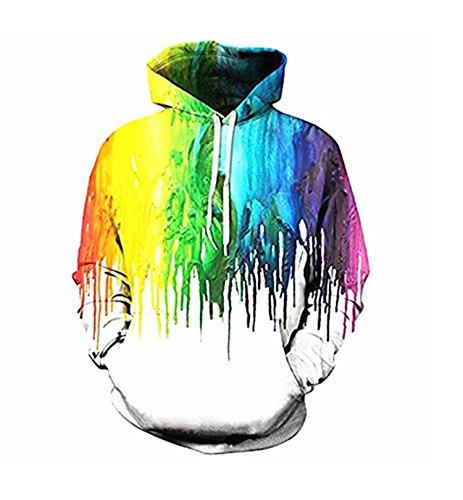 Women 3D Printed Drawstring Pockets Sweatshirt Hoodie Hooded Sweatshirt