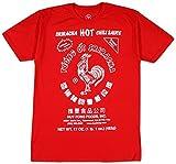 Sriracha Men's Hot Chili Sauce T-Shirt, Red, Large