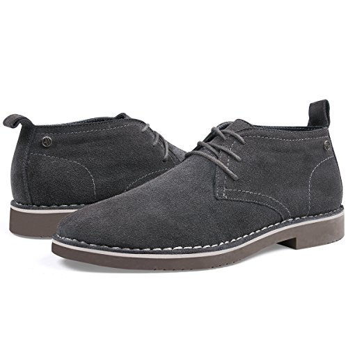 Men's Ankle Stylish Shoes Shoes Fashion Comfortable SEMANS Fit Boot Lace Boot Casual Grey Suede Chukka Up Desert Leather dBaPpq