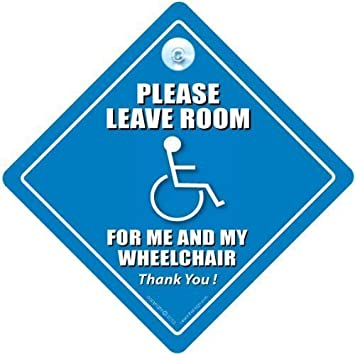 Amazon com : DISABLED SIGNS iwantthatsign com Please Leave