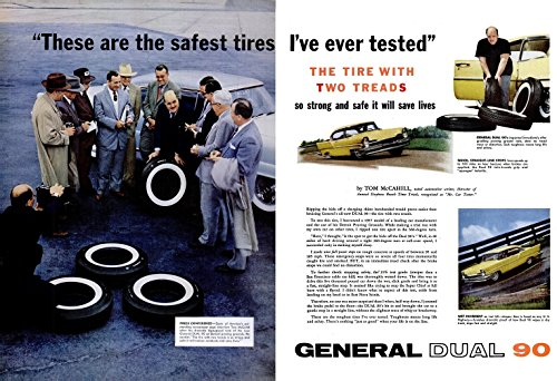 1956 GENERAL DUAL 90 TIRES with 1957 LINCOLN
