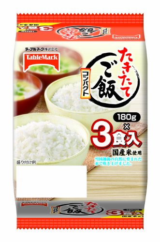 TableMark cooked twelve rice compact domestic rice use 180g3 meals ~ by TableMark