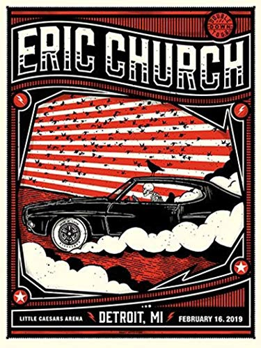 Pearl Shine Eric Church Official Limited Edition Concert Poster Gifts for Lovers Poster Poster Home Art Wall Posters [No Framed]]()