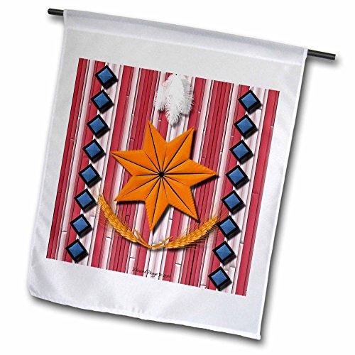 Edmond Hogge Jr Indians - Cherokee Nation - 18 x 27 inch Garden Flag (fl_23792_2)