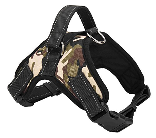 Dog Harness Vest No Pull Adjustable Control Harness Perfect for Training Walking Running (L, Camo) by Generic