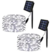 #LightningDeal SOLARMKS Solar String Lights, LED Outdoor String Lights Copper Wire Lights for Patio,Gate,Yard,Party,Wedding,Christmas,Garden