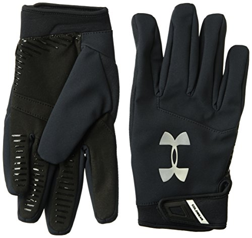 Under Armour Mens Sideline,Black (001)/Metallic Silver, X-Large (Under Armour Touch Screen Gloves)