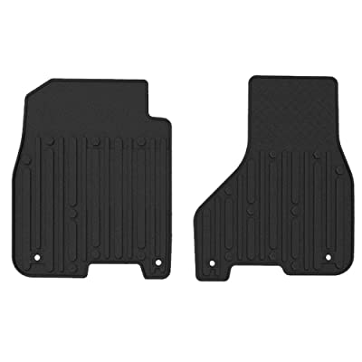 WINUNITE Black Front Row Floor Mats for 2013-2020 Dodge RAM 1500 2500 3500 4500 5500 CREW CABS & MEGA CABS Custom fit All Weather Guard TPE Floor Carpet Liner Slush Mat Set -NOT for Regular & Quad Cab: Automotive