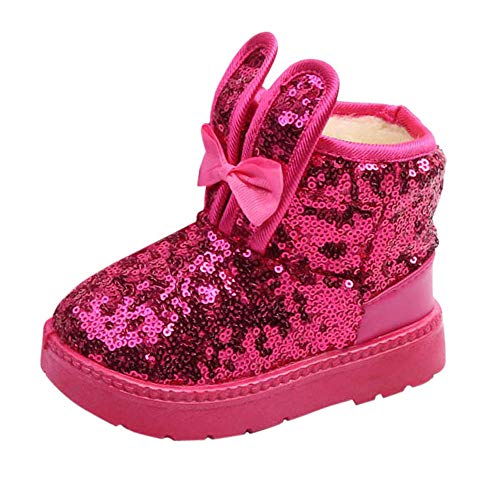 - Londony ♥‿♥ Baby's Girl's Toddler Fashion Cute Rabbit Ears Fur Lining Princess Warm Snow Boots 2-11 Years