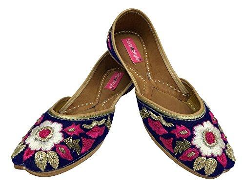 Step n Style - Sandalias de vestir para mujer multicolor azul/multicolor