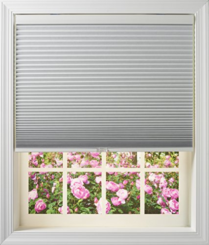 New Age Blinds 6460NAWFIRDCOT Room Darkening Inside Mount Cordless Cellular Shade, Cotton, 60 x 64-Inch
