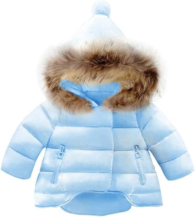 Baby M/ädchen Mantel Winter mit Kapuze Dick Blumen-Jacke Warm Outfits Kleidung 12-18 Monate
