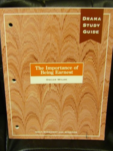 The Importance of Being Earnest Drama Study Guide