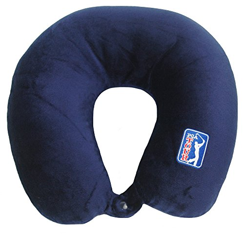 Worlds Best Cushion Soft Microfiber Neck Pillow  Pga Navy