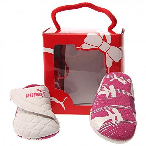 PUMA Drift Cat 6 LW Crib Shoe (Infant/Toddler) , White/Vivid Viola/Beetroot Purple, 4 M US Toddler