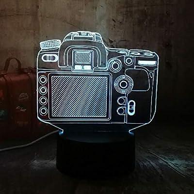 KangYD Cámara Digital Creativa Luz Nocturna 3D, Lámpara LED ...