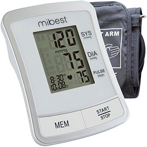 MIBEST Portable Blood Pressure Monitor – BP Cuff Meter with Display – Standard Size Blood Pressure Machine 8.66-14.17″ – Blood Pressure Tester with Carrying Bag – Blood Pressure Gauge with Memory