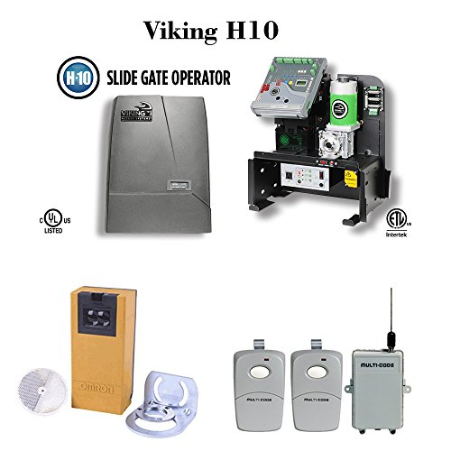Viking H10 - Slide Gate Operator Commercial / Industrial Use, PhotoCell, Multicode receiver and Remote (Industrial Sliding Gate)