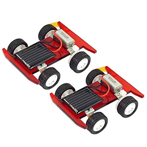 B Blesiya 2pcs Solar Power Mini Motor Electrical Racing Car Model Toy DIY Physics Circuits Science Experiments Discovery Kids Educational ()