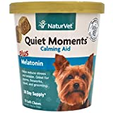 Quiet Moments Calming Aid Soft Chew Supplement for Dogs, Reduce Stress and Anxiety with this Veterinarian formulated calming supplement by NaturVet