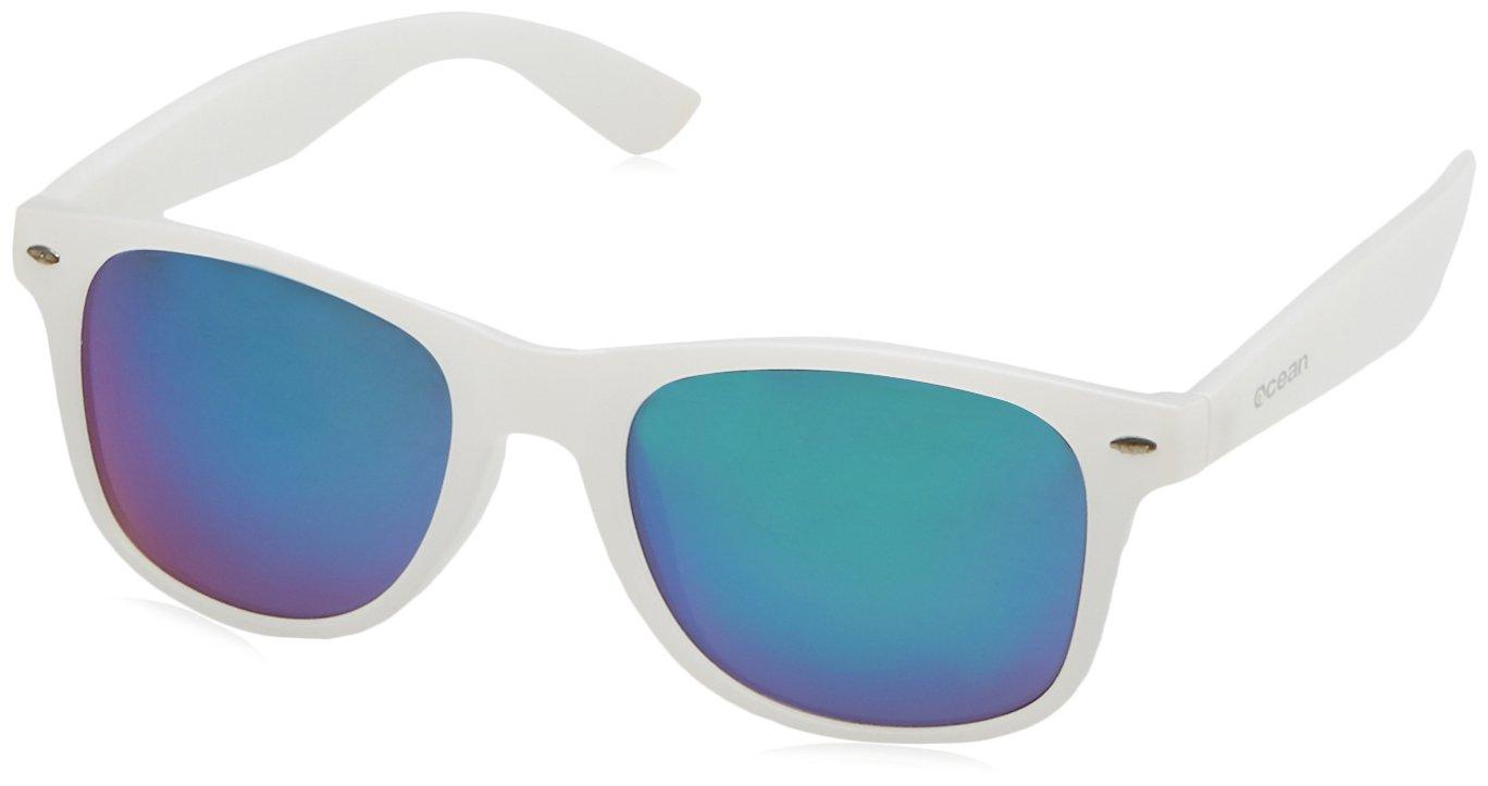 Ocean Sunglasses Beach Lunettes de soleil Transparent Noir Givré/Revo Vert JrtooEpyMF