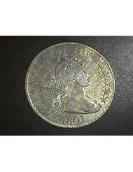 1801 Bust Draped RARE Half Dollar VF/EF