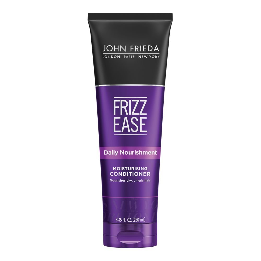 John Frieda Frizz Ease Daily Nourishment Conditioner for Frizz-Prone Hair, Best for Curly, Wavy, and Thick Hair, Formulated with Vitamins A, C, E and Green Tea Extract (8.45 oz)