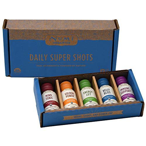 Numi Organics Daily Super Shots Rainbow Sampler Variety Pack, 2 Ounce Bottles (5 Count Box)