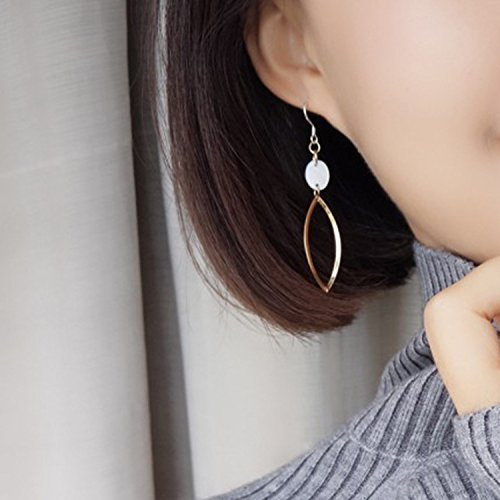 925 Tremella hook classic retro small leaf-shaped hollow shell earrings small handmade earrings minimalist thin face significant 180