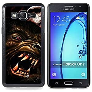 - Wolf Angry Dog Red Eyes Art Face Teeth Muzzle - - Snap-On Rugged Hard Cover Case Funny HouseFOR Samsung Galaxy On5 SM-G550FY G550
