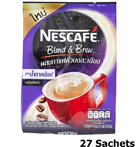 Nescafe Blend & Brew Low Sugar (Pack of 27 Sachets) 3 in 1 Instant Coffee 25% Less Sugar