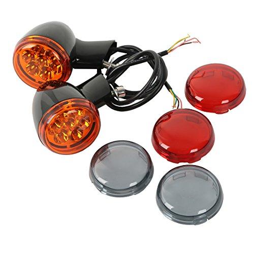 XMT-MOTO Black Bullet LED Turn Signal Indicator For Harley Davidson XL883 XL1200 Sportster (1994 Harley Davidson Sportster)