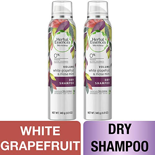 (Herbal Essences, Dry Shampoo, BioRenew White Grapefruit & Mosa Mint Naked Volume, 4.9 fl oz, Twin)