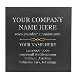 Cutomized Business Cards - Square Type - 2.5''x2.5'', 500pcs, Classic Matte Paper, Black- front, White-back