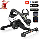 ANCHEER Under Desk Cycle Pedal Exerciser Mini Stationary Bike for Legs and Arms Exercise with LCD Monitor, 2-in-1 Pedal Exerciser PE-Bike Pro for iOS and Android with Free APP