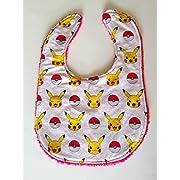 Pokemon Pikachu Terry Cloth Drool Bib