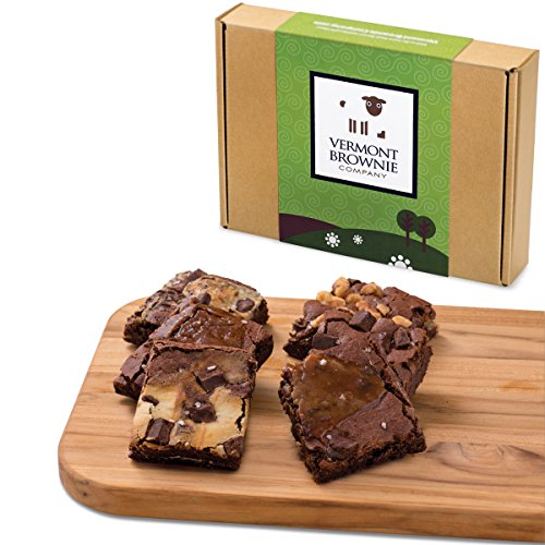 Gourmet Brownie Gift Sampler - 18 Full Size Brownies - Green Gift Box