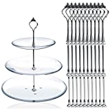 10 x Sets 2 or 3 Tier Cake Plate Stand Fittings Silver Plate Stands by DGQ