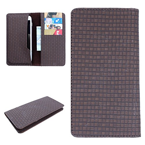 DooDa PU Faux Leather Wallet Case Cover With Card Slots For Lava Iris X1