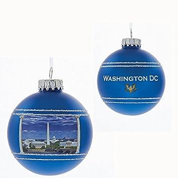 Amazoncom Blue Washington DC 80MM Glass Ball Christmas Ornament