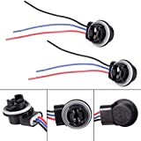 PartsSquare 1 Pair Adapter Socket Plugs Connectors Harness Wire For 3157 4057 3156 Bulb