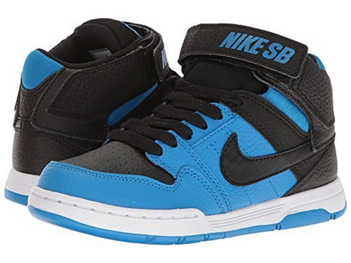Shoe Boys Skateboarding (NIKE Boys' Mogan Mid 2 JR Skate Shoe, Photo Blue/Black White, 7 M US Big Kid)